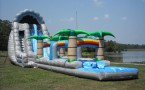 22ft Roaring River Dual Lane Water Slip, Slide, and Splash